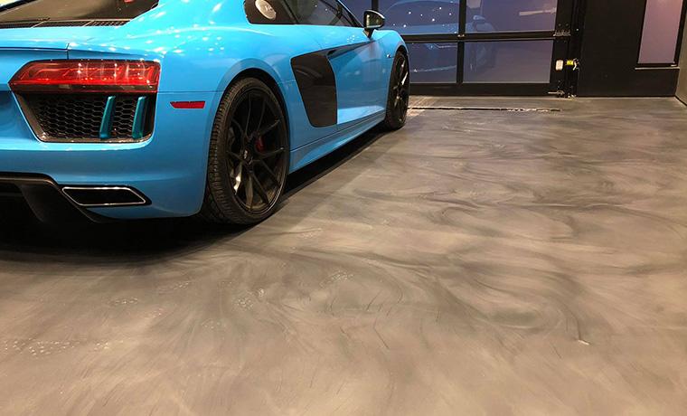 Luxury Car Epoxy Matte Floor Zone Garage
