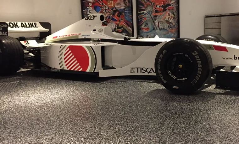 Racing Car garage Epoxy Floor