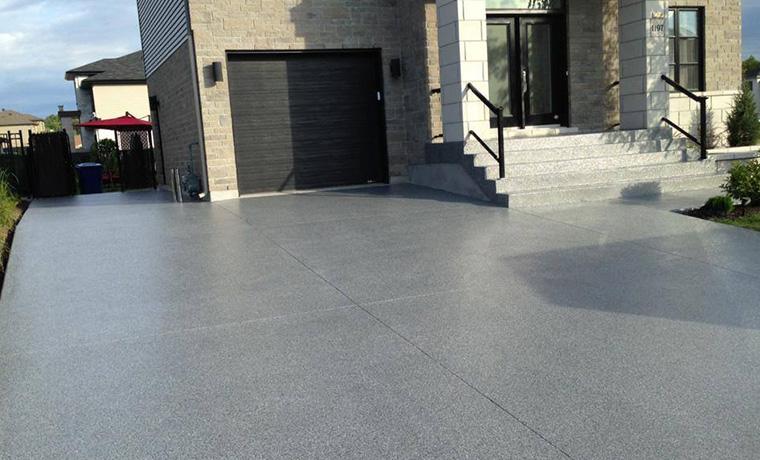 Zone garage epoxy outdoors