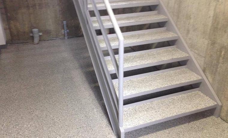 epoxy stairs zone garage