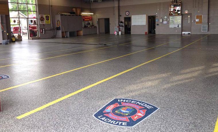 fire station parking epoxy floor